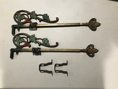 Antique curtain rods 1920's - Rods and brackets