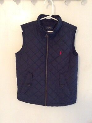 Ralph Lauren Polo Boys' Quilted  Outerwear Vest - Size 5 - Navy