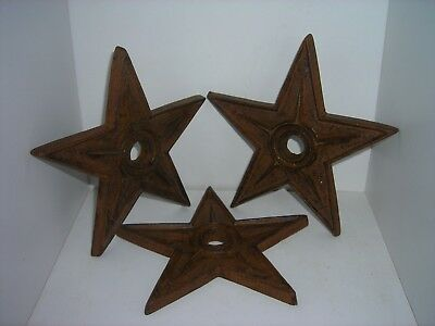 Rustic Star Architectural Stress Washer Cast Iron Texas Lone Star 6-1/4""