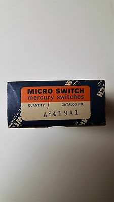 New Qty 1 Micro Switch AS419A1 Mercury Switch