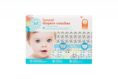 The Honest Company Diapers, Bicycles and Skulls, 68 Count, Size 3