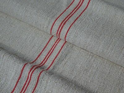 Antique European Feed Sack GRAIN SACK Red Stripe # 9666