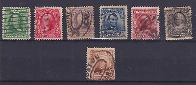 U.S.A. Stamps ~ 1903 ~ a Selection of 7 stamps to 10 Cents