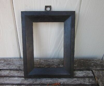 c1850 Excellent AMERICAN DRY BLACK Pa Folk Primitive MINIATURE Antique Frame