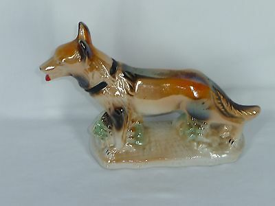 Vintage Porcelain Handcrafted Collectibles Collie Dog  Figurine Made in Brazil