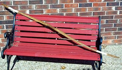 19th C Antique Native American Indian Hand Carved Osage Orange Bow 75 inch long