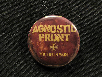 Agnostic Front New Button Pin Badge Uk Import Not Patch Shirt Cd Lp Poster Punk