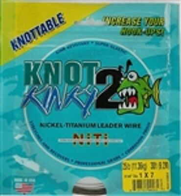 Knot 2 Kinky Nickel-Titanium Leader Wire, 7 Strand, 25lb(11.36kg) 30ft(9.2m)
