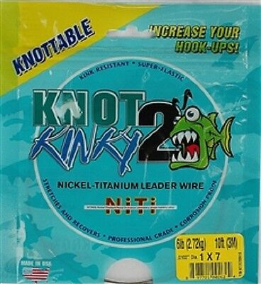 Knot 2 Kinky Nickel-Titanium Leader Wire, 7 Strand, 6lb(2.72kg) 10ft(3m)