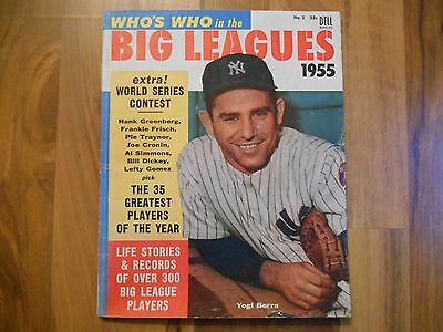 Old Vintage 1955 Who's Who in the Big Leagues Magazine MLB Baseball World Series
