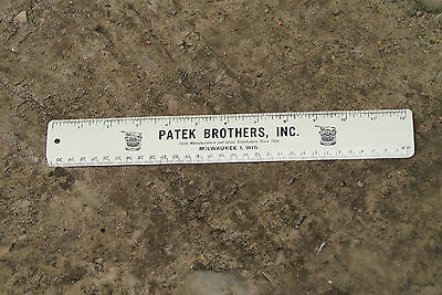 Old Vintage Patek Brothers Paint Manufacturers Glass Distributor Milwaukee Ruler