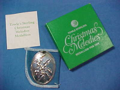 Towle Sterling Silver Christmas Melodies Medallion 1979 Ornament FREE SHIPPING
