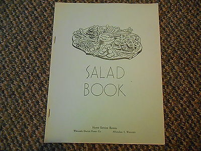 Vintage Salad Book Recipes Home Service Wisconsin Electric Power Co. Cookbook