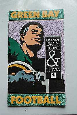 Vintage 1988 Green Bay Packers Facts Figures Trivia Booklet Advetising Citgo Gas