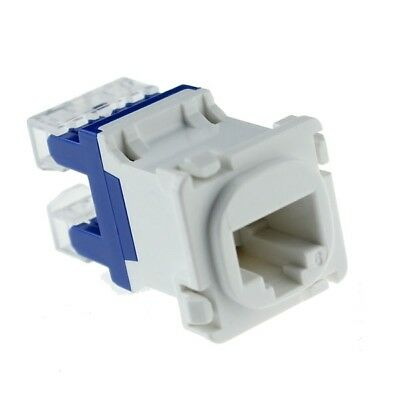 CAT6 RJ45 8P8C Network LAN Data Jack Mech Insert Socket Clipsal Style Wall Plate