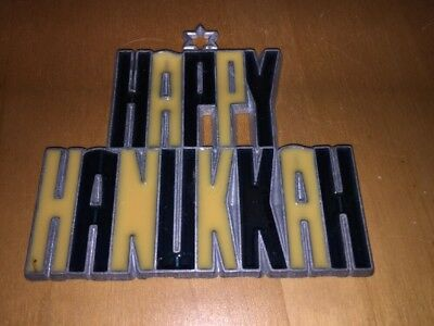 Happy Hanukkah Suncatcher Sun Catcher Stained Glass-style Window Hanging