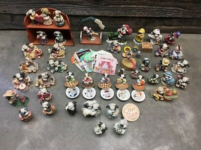 Enesco Mary's Moo Moos Mixed Lot Of Over 40! Collectible Cow Figurines