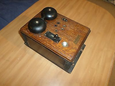 Nice Vintage Antique Western Electric Model 22A Phone Ringer Oak Box USA 1900's