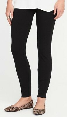 Old Navy Womens Heavy-Knit Jersey Leggings Size MP- Black- NWT