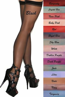 Sheer Sexy Thigh Hi High Stockings Women Hose Fashion Hosiery Elegant Nylons