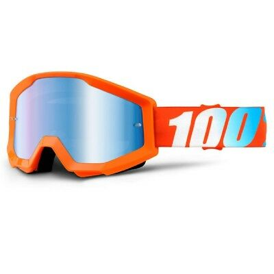 100% Prozent Goggle Enduro MX Brille Cross Strata Junior Kinderbrille orange