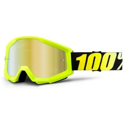 100% Prozent Goggle Enduro MX Brille Cross Strata Junior Kinderbrille Neon Yello