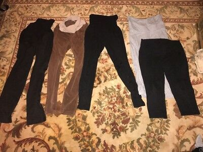 Lot Maternity Clothes Motherhood Maternity Leggings , Dress Pants Medium Large