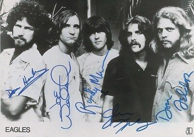 The  Eagles  -   11 X 17  Glossy  Signed  Photo Reprint