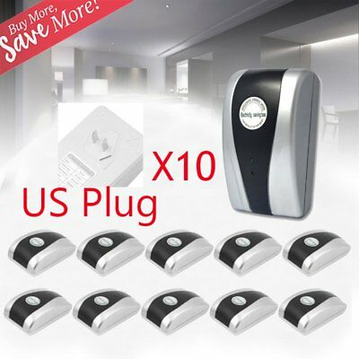 10 x Power Electricity Save Saving Energy Saver Box Save 30% Device US Plug VP
