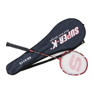 Aluminum Carbon Badminton Racket Strung Racquet with Full Cover Carry Bag SK9115