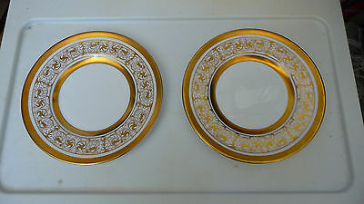 "2 Royal Chelsea Midas Bone China England 6 1/2"" Bread & Butter Plates Excellent"