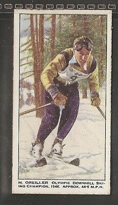 British Automatic-Speed-#12- Sking - Olympic Downhill Sking Champion