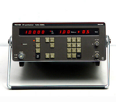 Philips PM5190 Audio-/NF-Generator, LF Synthesizer, 1 mHz ... 2 MHz, AC + DC