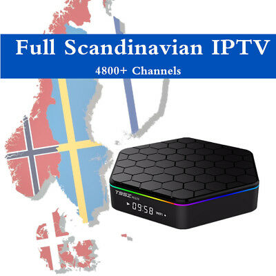 Iptv Subscription 1Month Scandinavian Package  Smart Tv Mag Pc Android M3U