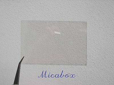 "2""x3"" (50 mm x75mm) Mica sheet for French stove/woodburner windows Top quality!"