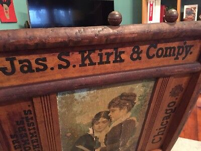 1910's JAMES A KIRK CHICAGO SOAP PERFUME CHEMIST WOODEN FOLDING CHAIR RARE!
