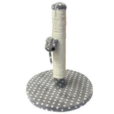 Dijon Cat Kitten Scratching Post and Catnip filled Toy