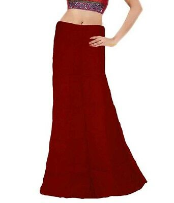 women saree petticoat inskirt 100% cotton standard size fits to all ,USA Seller