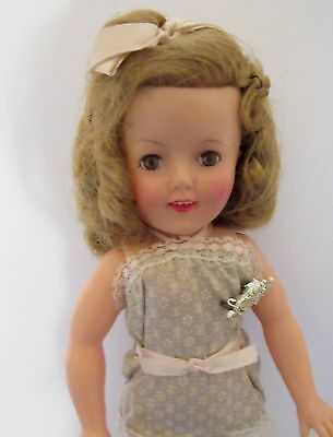 Shirley Temple St-12 Doll Blue Playsuit Script Name Pin Hairbow  Shoes & Socks