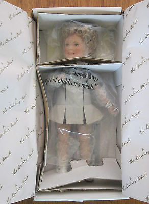 "SHIRLEY TEMPLE 8"" POOR LITTLE RICH GIRL MOVIE MEMORIES DANBURY MINT DOLL w/ BOX"
