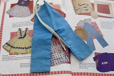Shirley Temple Ideal Blue Tagged Overalls For St-12  Doll