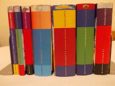 Full complete set First Edition Harry Potter hardback books dust jackets Rowling