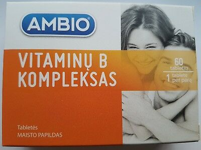 Ambio-Vitamin B Complex 60tablets Contains five B Vitamins in one tablet-UKstock