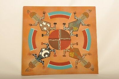 Native American Indian Navajo Marie Akee Sand Art Signed