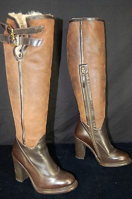 d43a4247922 UGG COLLECTION MADE IN ITALY 'Aldabella' SHEARLING WARM OVER THE KNEE BOOTS  8.5