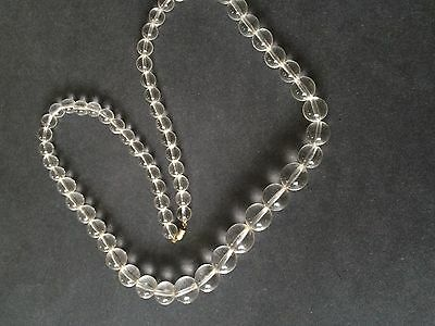 Statement Vintage Graduated Clear Lucite Pools Of Light Necklace MOD BOHO 1960's