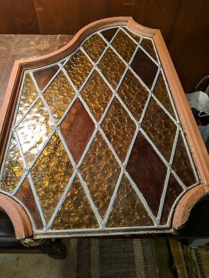 stained glass window antique leaded