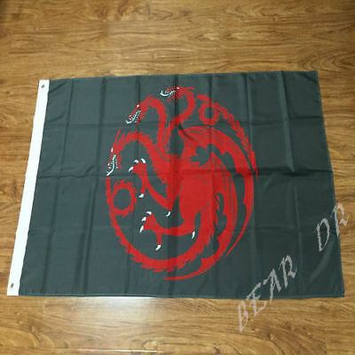 House Targaryen Banner - Game of Thrones Flag  3X5 FT  Banner - 2 Grommets