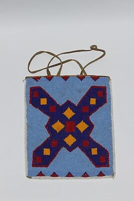 Vintage Native American 2 Sided Beaded Bag *COLLECTIBLE*