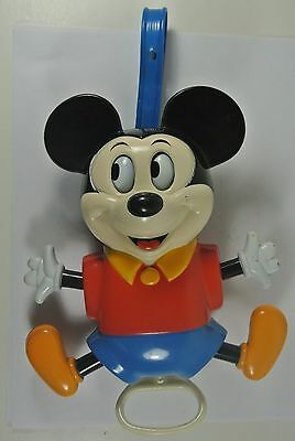 Vintage Mickey Mouse Pull down Hanging Music Box - ILLCO Toys Walt Disney